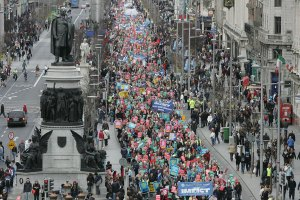 Public protest, Dublin.